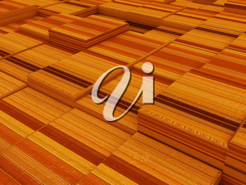 The abstract wood urban background