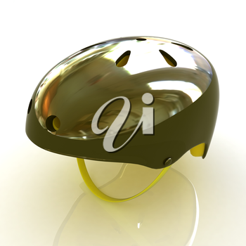 Bicycle helmet on a white background