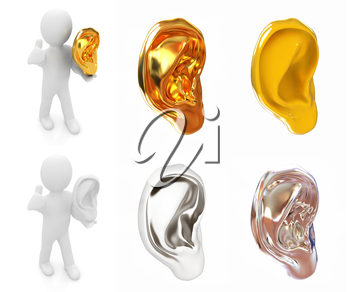Ear set on a white background