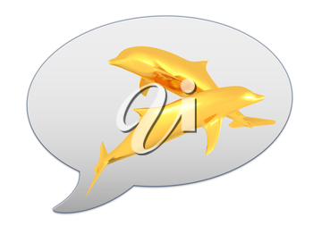 messenger window icon and golden dolphins