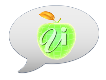 messenger window icon and abstract apple