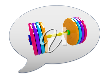 messenger window icon and dumbbell
