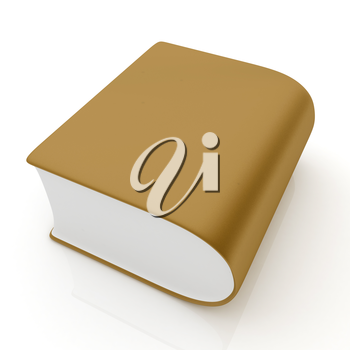 Glossy Book Icon isolated on a white background