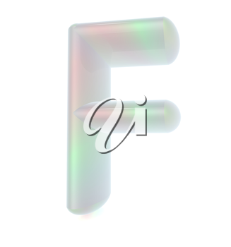 Glossy alphabet. The letter F