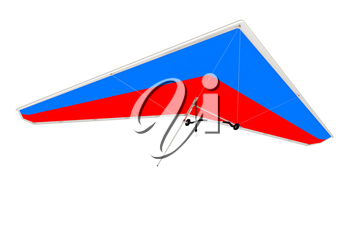 Hang glider isolated on a white background