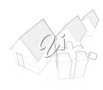 Houses and gift