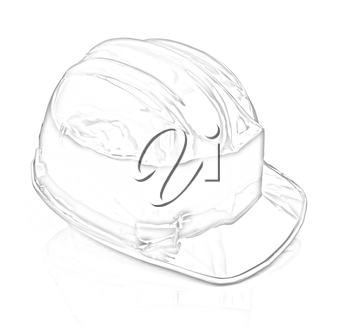 Hard hat on a white background