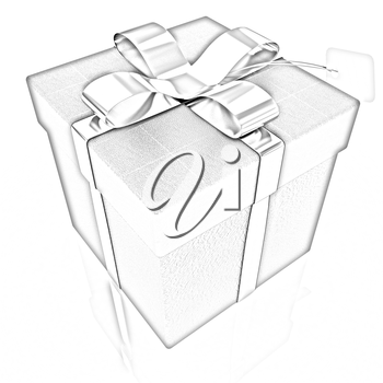 Leather gift-box with gold ribbon