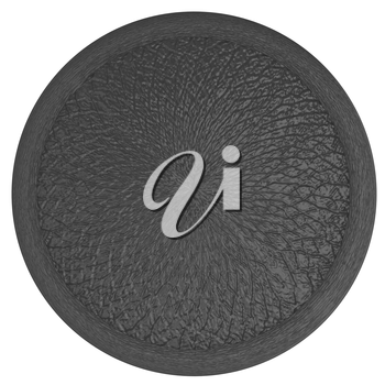 button with leather texture