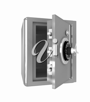 Security metal safe with empty space inside