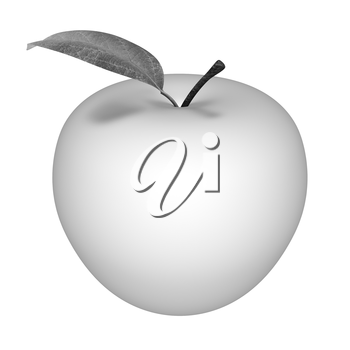 Metall apple isolated on white background