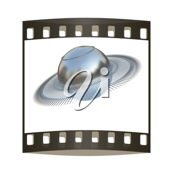 3d fantastic object with the ball. The film strip