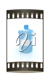 water bottle. The film strip