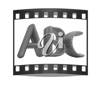 colorful abc on white background. The film strip