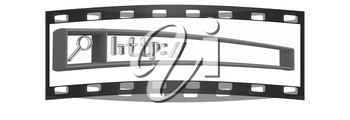 3d internet search string.Business and technology. The film strip