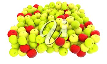 apples isolated on white