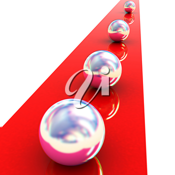 the concept of motion . 3D illustration. Anaglyph. View with red/cyan glasses to see in 3D.
