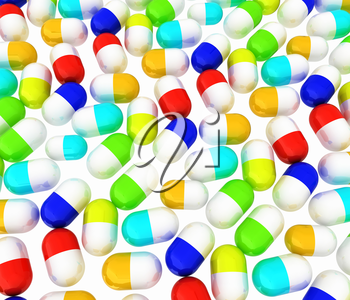 Tablets background. 3D illustration