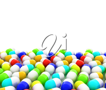 Tablets background with space for your text. 3D illustration