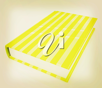 Book on a white background. 3D illustration. Vintage style.