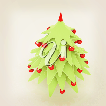 Christmas tree. 3d illustration