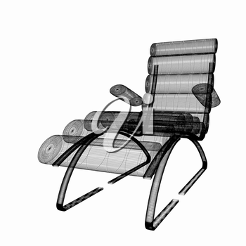 Medical chair for cosmetology. 3d illustration
