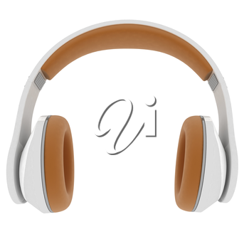 Best headphone icon. 3d illustration