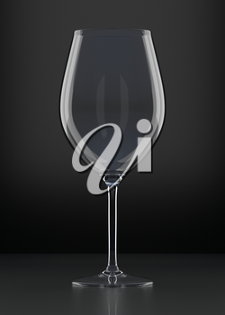 Wine glass. Red wine in a glass. Clear glass with red drink. Alcoholic beverage. Graphic design element.