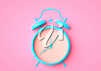 Alarm clock with no dial. 3D illustration