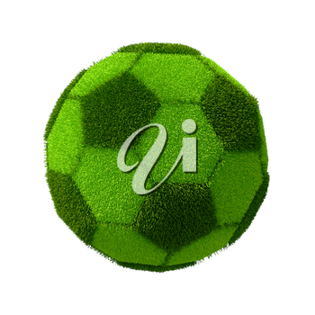 Football grassy ball isolated on white