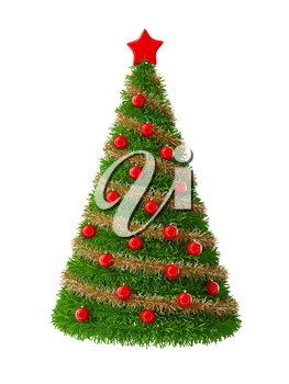3d Christmas Tree with decorations