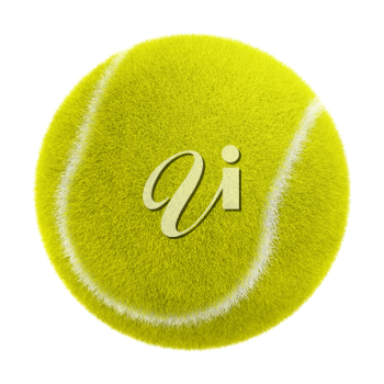 3d tennis ball isolated on white