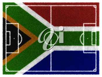 3d render of soccer field for 2010 South Africa worldcup