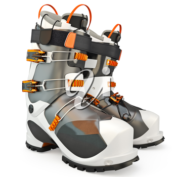 Sports shoes, skiing, isolated on a white background