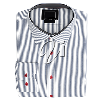 Classic men's shirt, top view. 3D graphic object on white background isolated