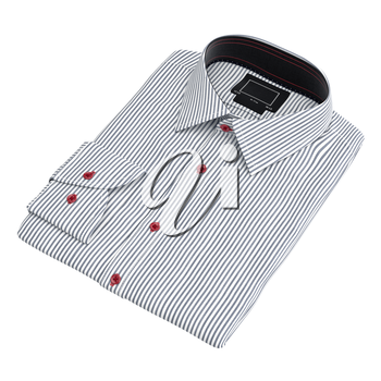Modern shirt striped. 3D graphic object on white background isolated
