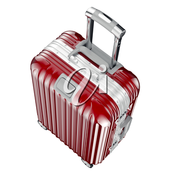 Baggage for travel, top view. 3D graphic object isolated on white background