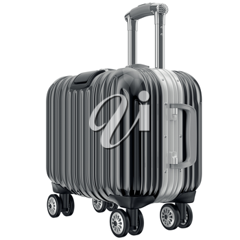 Baggage travel, top view. 3D graphic object isolated on white background