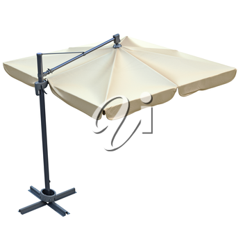 Patio umbrella, sunshade for relax. 3D graphic