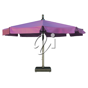Modern patio beach umbrella for relax, front view. 3D graphic