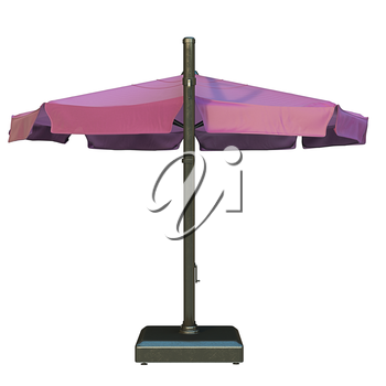 Sun umbrella for relax, back view. 3D graphic