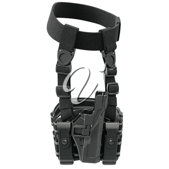 Holster black classic protection for gun. 3D graphic