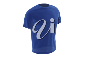 T-shirt blue stylish fabric outfit short sleeves. 3D graphic