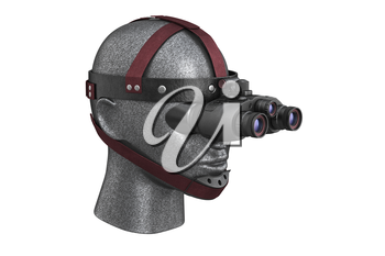 Night vision device black optical. 3D rendering