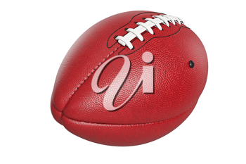 Football american, leather ball game sport. 3D rendering