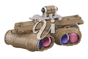 Night vision device army equipment. 3D rendering