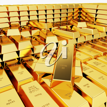 Lots of gold bars in the depot