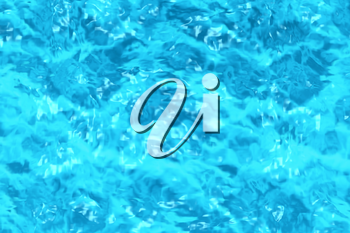 Swimming pool water surface with sparkling light, rippled pattern background of clear blue water in swimming pool, 3d illustration