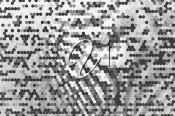Horizontal black and white cells textured background