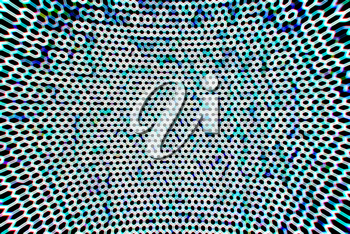 Cold cyberspace grid bokeh background
